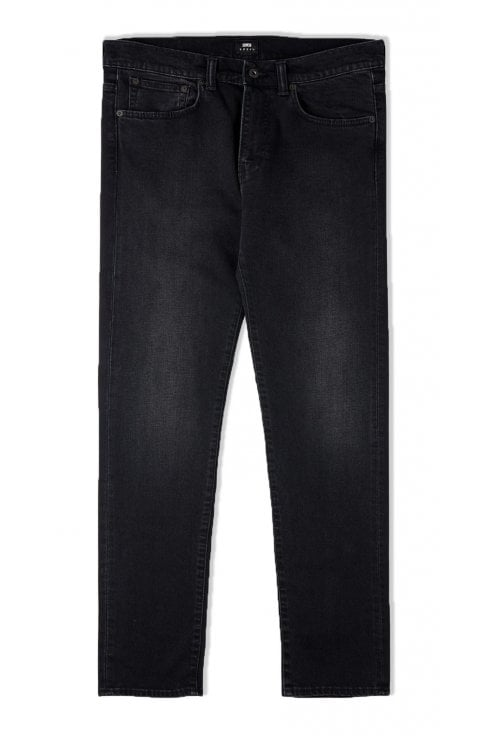 Edwin ED-80 Slim Tapered Jeans (Black Mineral Wash)