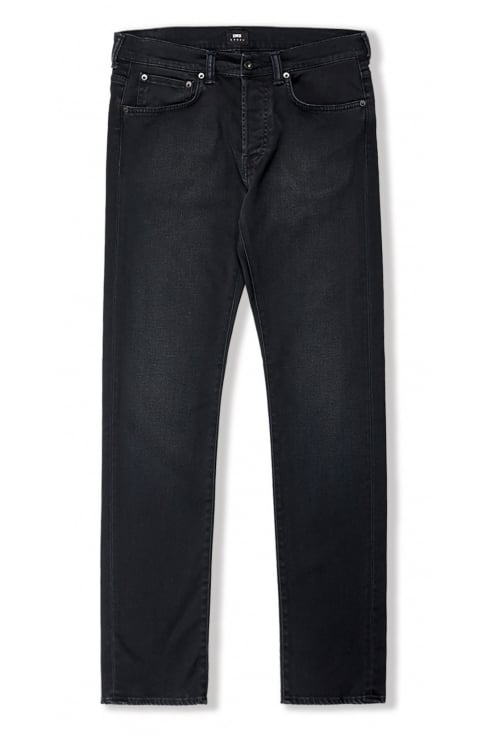 Edwin ED-80 Slim Tapered Jeans (CS Black Ink Denim - Mineral Wash)
