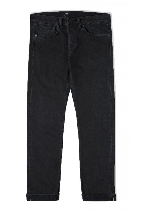 Edwin ED-80 Slim Tapered Red Listed Black Selvage Jeans (Ragny Wash)