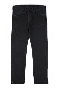 ED-80 Slim Tapered Red Listed Black Selvage Jeans (Ragny Wash)