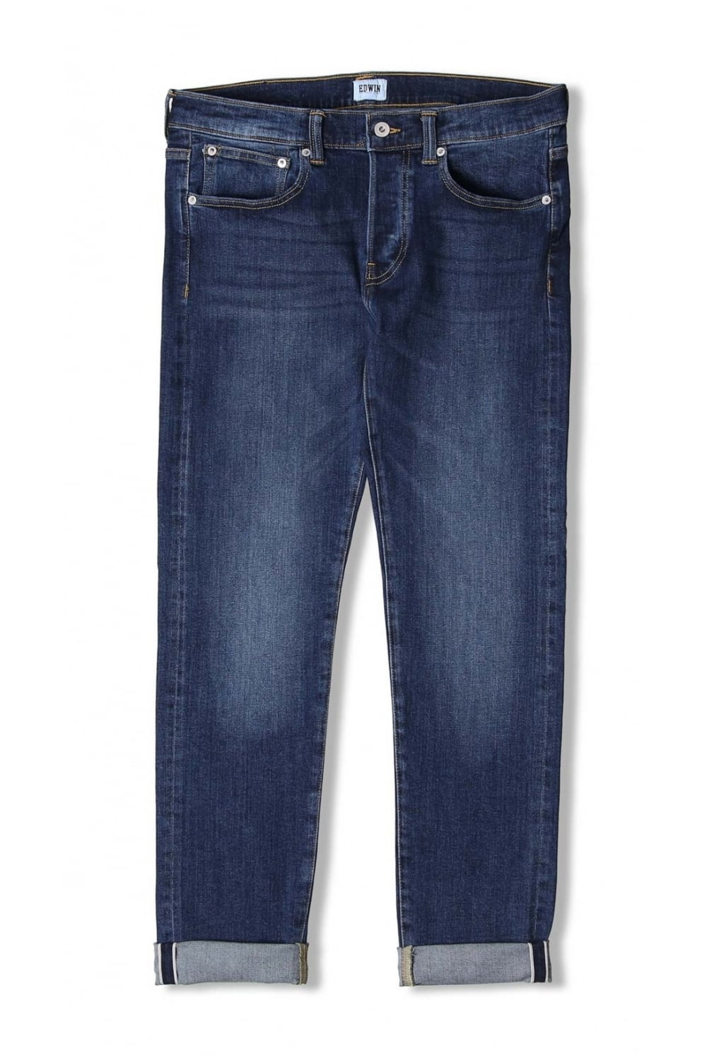 Edwin ED 80 Slim Tapered Red Listed Selvage Jeans (Blast Wash)