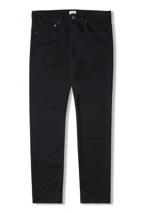 Edwin ED-55 Regular Tapered Jeans (CS Ink Black Denim - Rinsed)