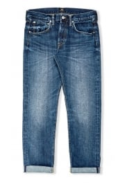 ED-55 Regular Tapered Red Listed Selvage Jeans (Contrast Clean Wash)