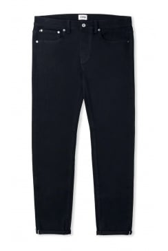 ED-80 Slim Tapered White Listed Selvage Jeans (Black Rinsed)