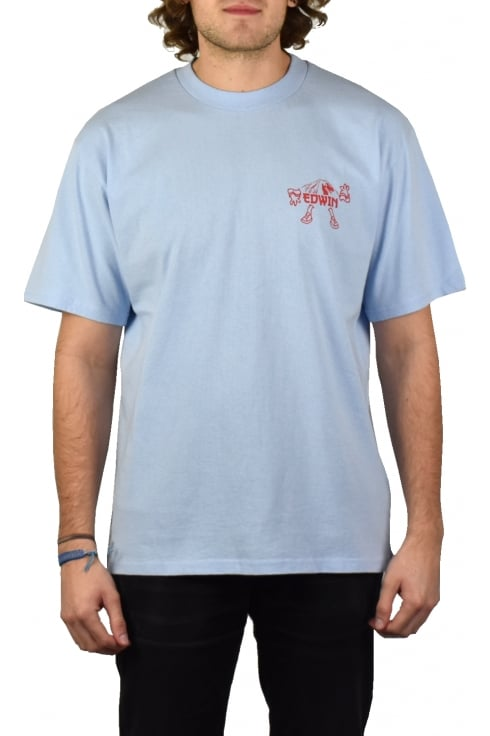 Edwin Jet Your Way Short-Sleeved T-Shirt (Pool Blue)