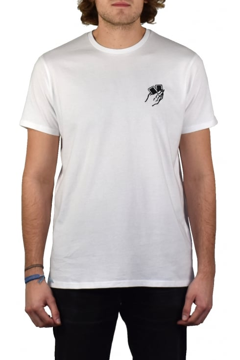 Edwin Jeans Oh Hell Short-Sleeved T-Shirt (White)