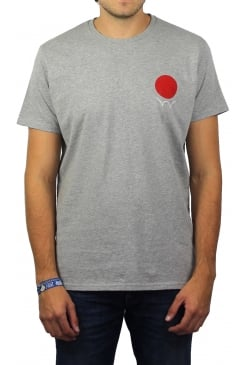 Red Dot Short-Sleeved T-Shirt (Grey)