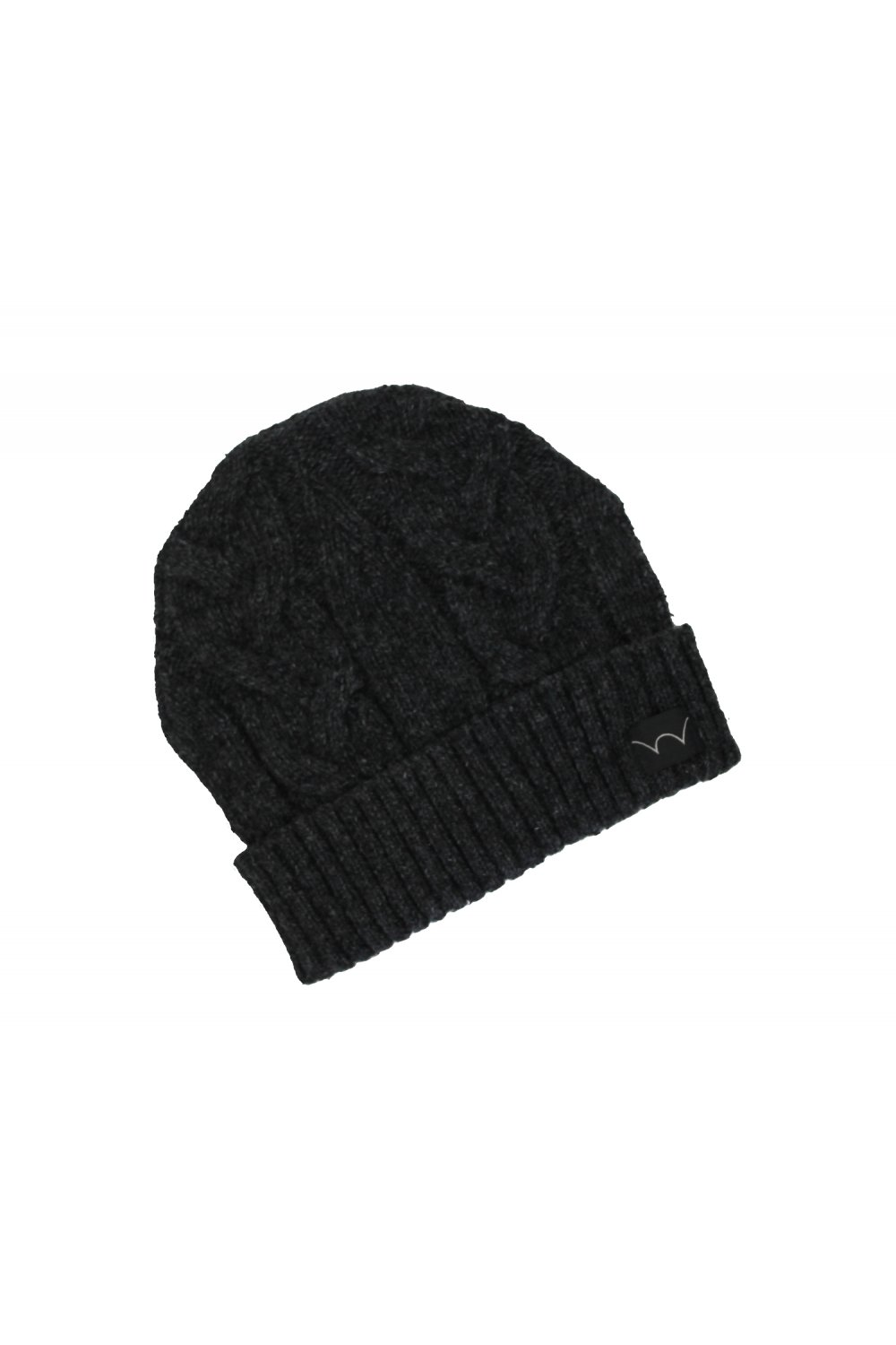 3820c225485 Edwin Shackle Cable Knit Beanie (Charcoal) - Accessories from ...