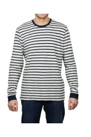 Tokyo Blues Long-Sleeved Striped T-Shirt (Off White/Navy)