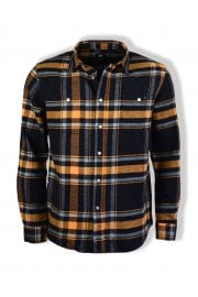 Labour Mid Twill Flannel Shirt (Orange Ochre)