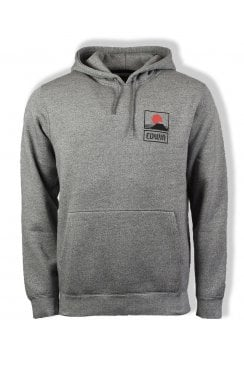 Sunset on Mt Fuji Hoodie (Mouliné Grey)