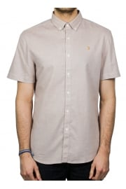 Beacroft Slim Short-Sleeved Shirt (Currant)