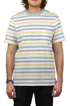 Bognor Yarn Dyed T-Shirt (Green Mist Marl)