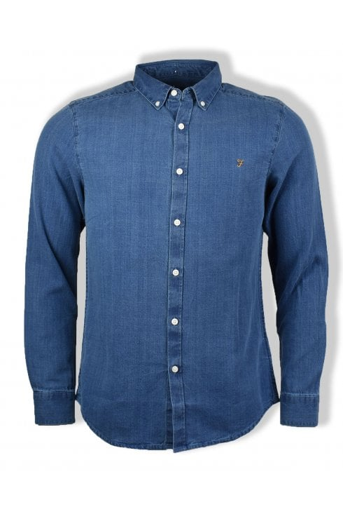 Farah Brewer Long-Sleeved Denim Shirt (Indigo)
