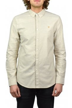 Brewer Long-Sleeved Oxford Shirt (Almond)