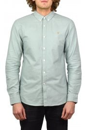 Brewer Long-Sleeved Oxford Shirt (Green Mist)