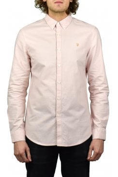 Brewer Long-Sleeved Oxford Shirt (Pink)