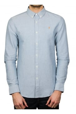 Brewer Long-Sleeved Oxford Shirt (Sapphire Blue)
