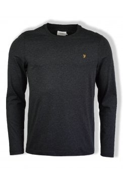 Denny Long-Sleeved Crew-Neck T-Shirt (Black Marl)