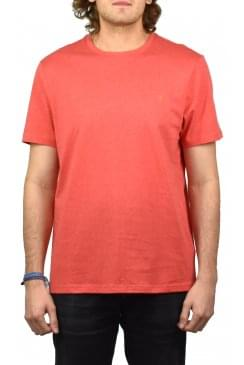 Denny Marl Short-Sleeved Crew-Neck T-Shirt (Red Coat)