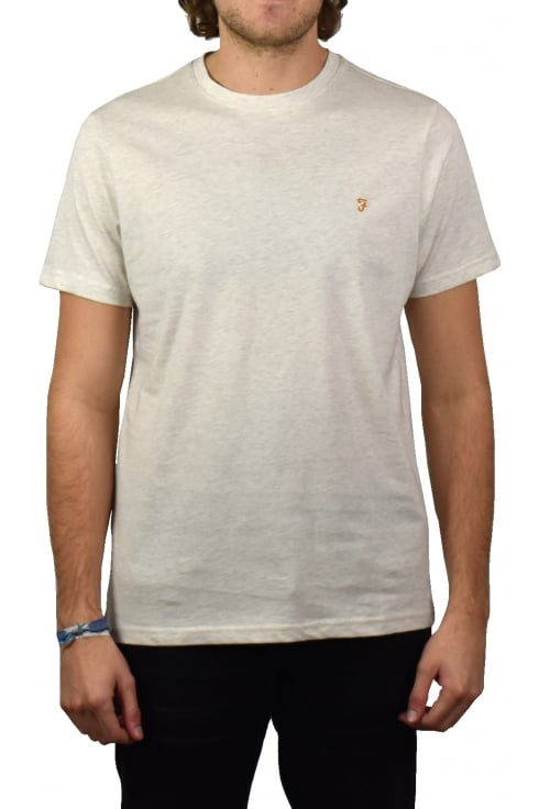 Farah Denny Short-Sleeved Crew-Neck T-Shirt (Chalk Marl)