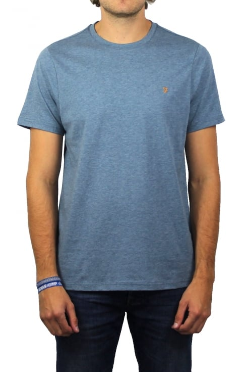 Farah Denny Short-Sleeved Crew-Neck T-Shirt (Cornflower)