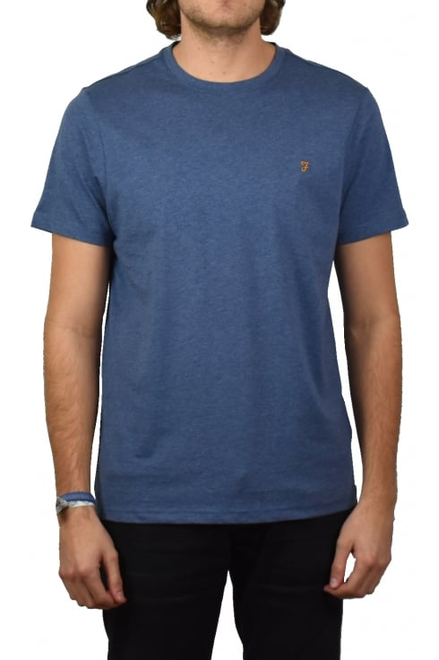 Farah Denny Short-Sleeved Crew-Neck T-Shirt (Dark Denim Marl)