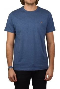 Denny Short-Sleeved Crew-Neck T-Shirt (Dark Denim Marl)