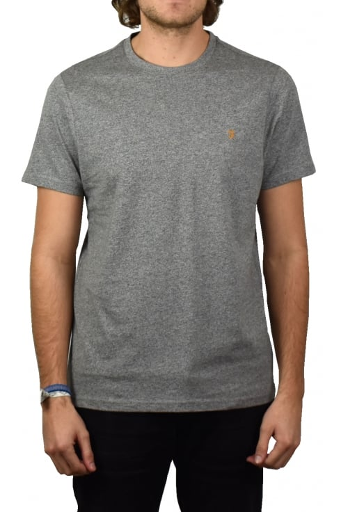 Farah Denny Short-Sleeved Crew-Neck T-Shirt (Gravel Marl)