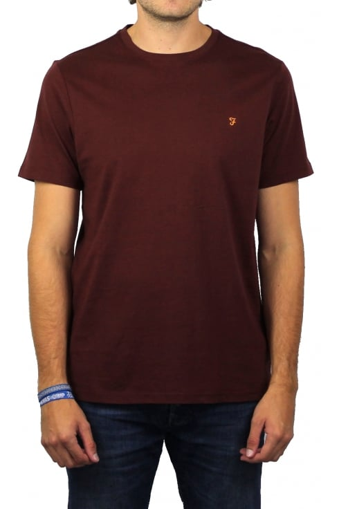 Farah Denny Short-Sleeved Crew-Neck T-Shirt (Red Marl)