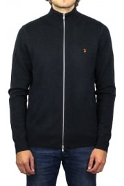 Fermoy Knitted Zip Cardigan (True Navy Marl)
