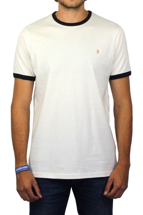 Farah Groves Ringer Short-Sleeved T-Shirt (Ecru)