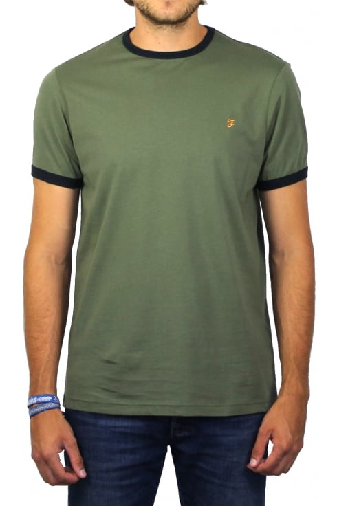 Farah Groves Ringer Short-Sleeved T-Shirt (Military Green)
