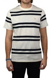 Hewitt Striped Crew-Neck T-Shirt (Ecru)