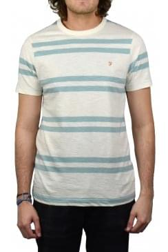 Hewitt Striped Crew-Neck T-Shirt (Green Mist)