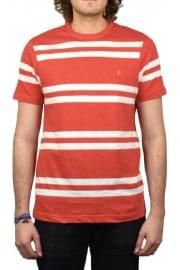 Hewitt Striped Crew-Neck T-Shirt (Red Coat)