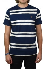 Hewitt Striped Crew-Neck T-Shirt (Yale)
