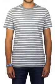 Lennox Short-Sleeved Stripe T-Shirt (Gravel Marl)