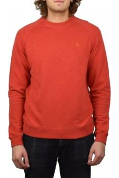 Longleat Slub Loopback Sweatshirt (Red Coat)