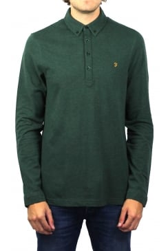 Merriweather Long-Sleeved Polo Shirt (Cilantro Marl)