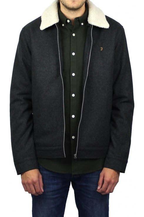 Farah Otley Sherpa Collar Jacket (Grey Marl)