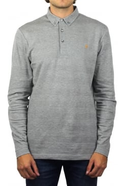 Stapleton Long-Sleeved Polo Shirt (Silver Grey Marl)