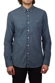Steen Long-Sleeved Oxford Shirt (Bluebell)