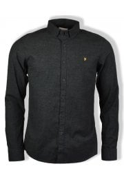 Steen Long-Sleeved Oxford Shirt (Coal)