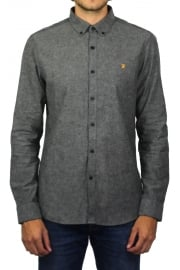 Steen Long-Sleeved Oxford Shirt (Gravel Marl)