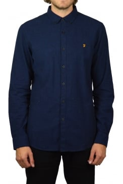 Steen Long-Sleeved Oxford Shirt (True Blue)