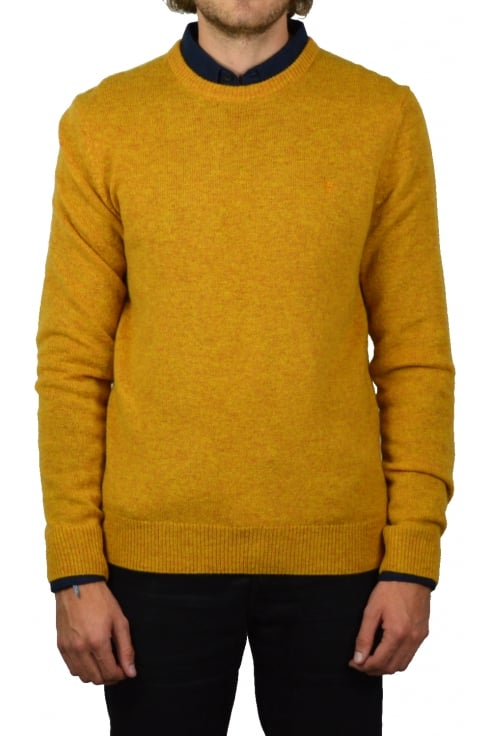 Farah The Rosecroft Knit Jumper (Mustard Marl)