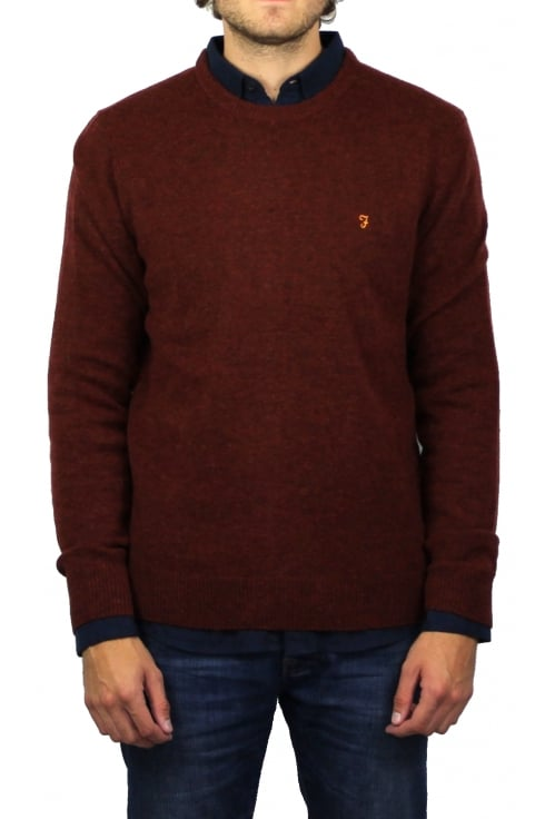 Farah The Rosecroft Knit Jumper (Red Brick Marl)