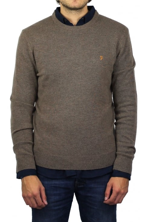 Farah The Rosecroft Knit Jumper (Smoke)