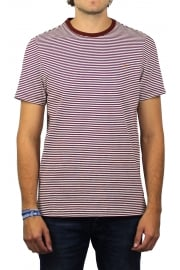 Vyner Short-Sleeved Stripe T-Shirt (Red Brick)